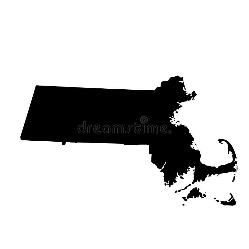 Map of the U.S. state Massachusetts vector illustration
