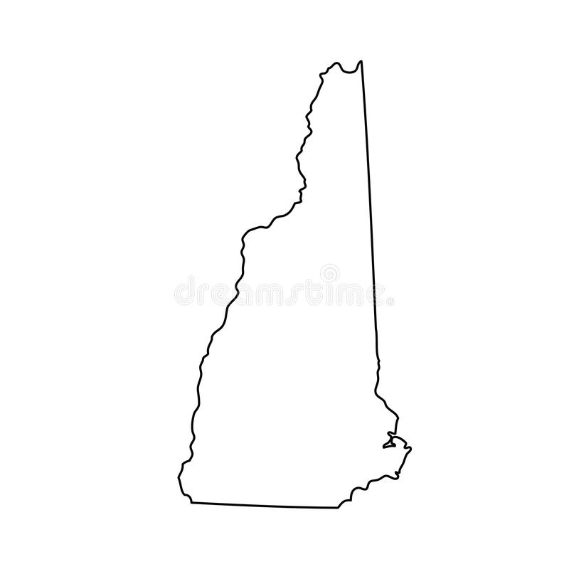 Map of the U.S. state of New Hampshire royalty free illustration