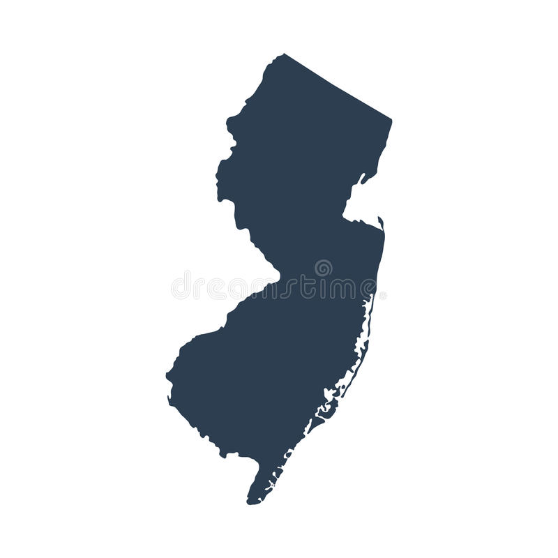 Map of the U.S. state New Jersey royalty free illustration