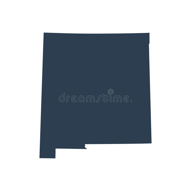 Map of the U.S. state New Mexico stock illustration