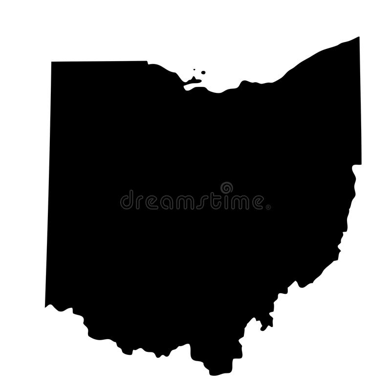 Map of the U.S. state Ohio vector illustration