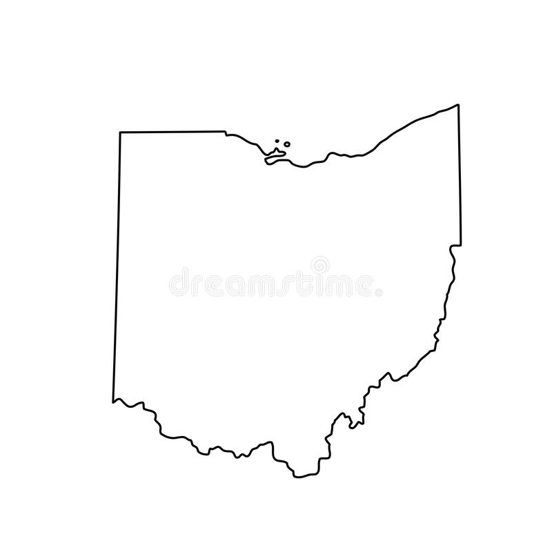 map of the u.s. state of ohio stock vector - image: 89901773
