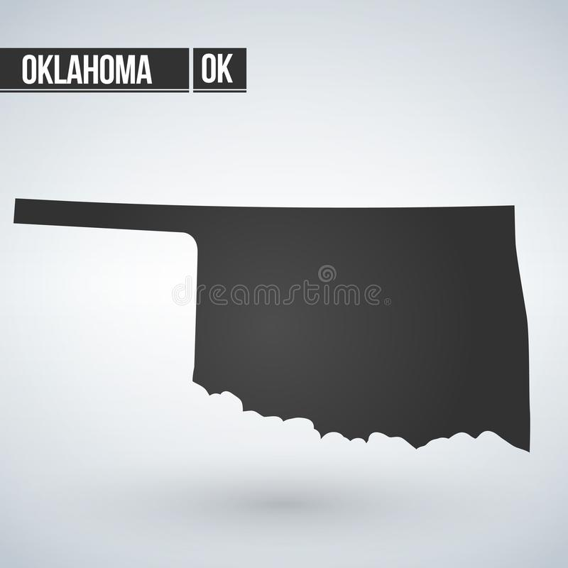 map of the U.S. state of Oklahoma. vector illustration. vector illustration