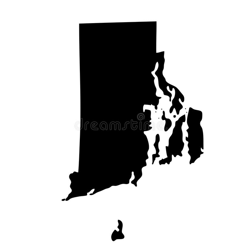 Map of the U.S. state Rhode Island royalty free illustration