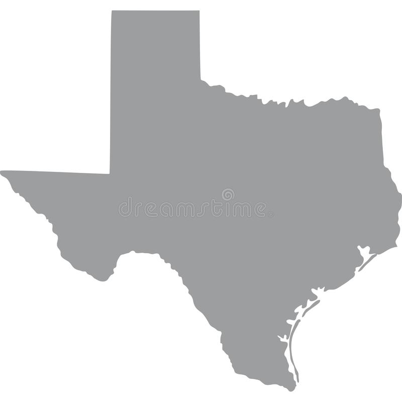 U.S. state of Texas. Map of the U.S. state of Texas vector illustration