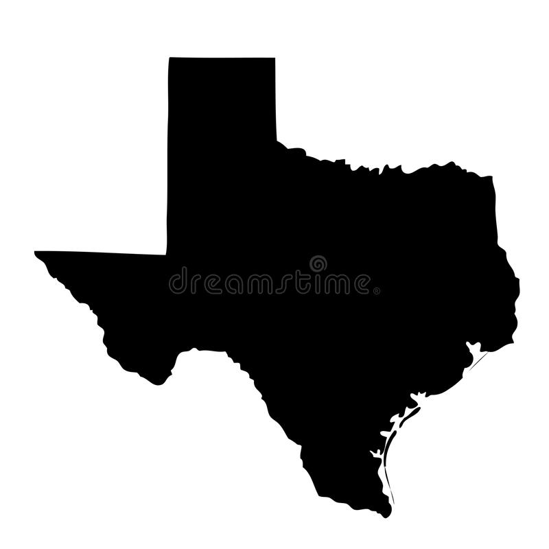Map of the U.S. state Texas. Map of the U.S. state of Texas vector illustration