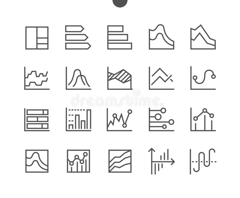 Map UI piksla wektoru ikon 48x48 Perfect Wykonująca ręcznie Cienka Kreskowa siatka dla sieci Apps i grafika Prosty Minimalny ilustracja wektor