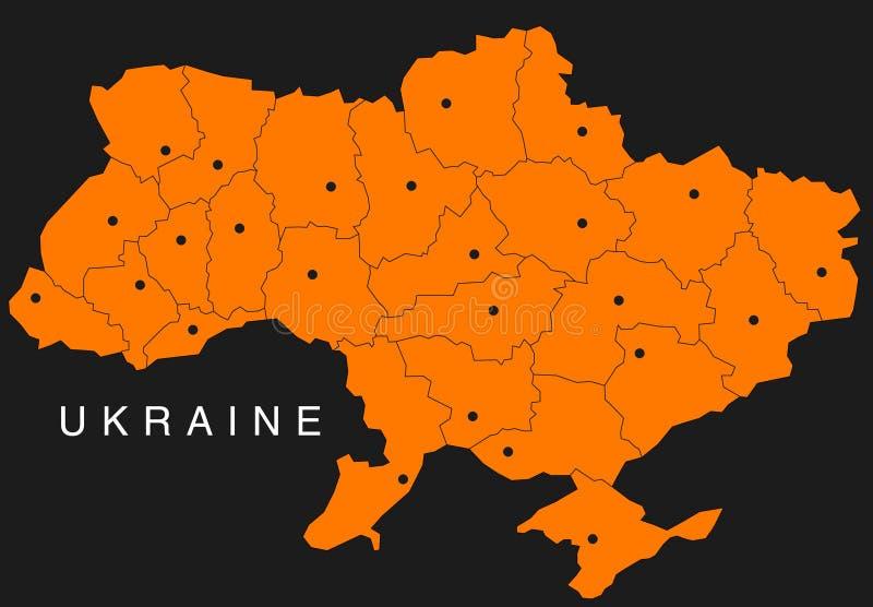 Map Of Ukraine Stock Photography