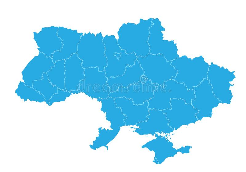 Map of ukraine. High detailed vector map - ukraine. vector illustration