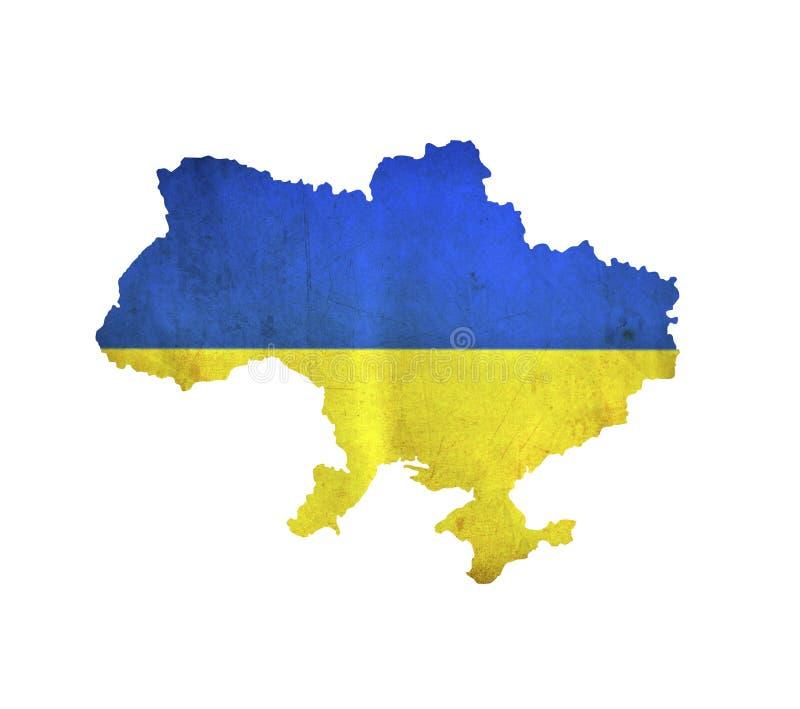 Map of Ukraine isolated royalty free stock photos