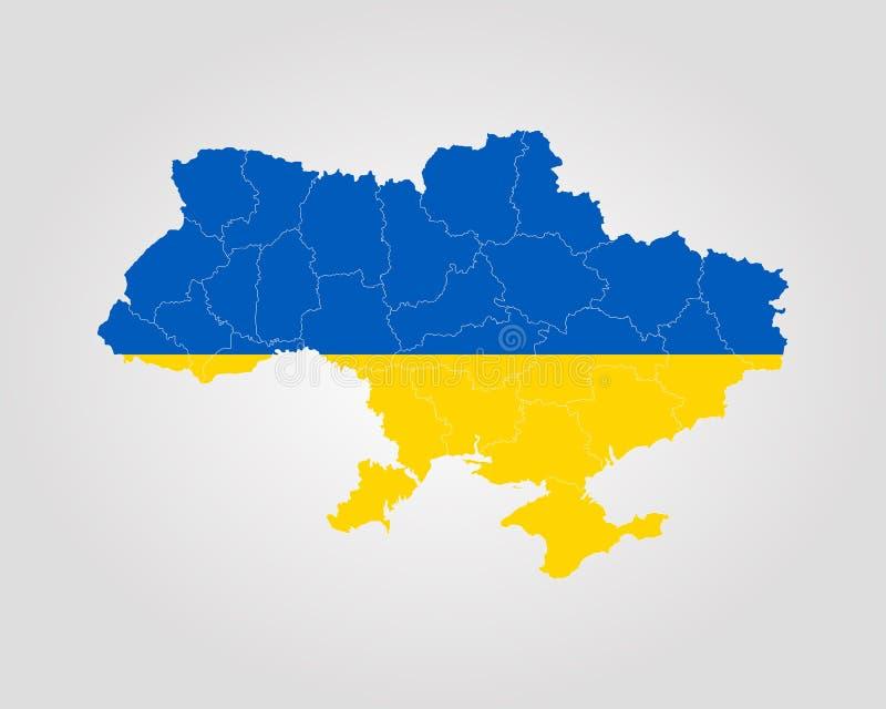 Map of Ukraine vector illustration