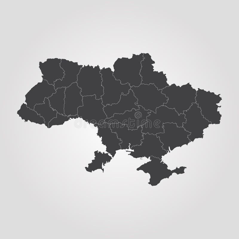 Map of Ukraine stock illustration