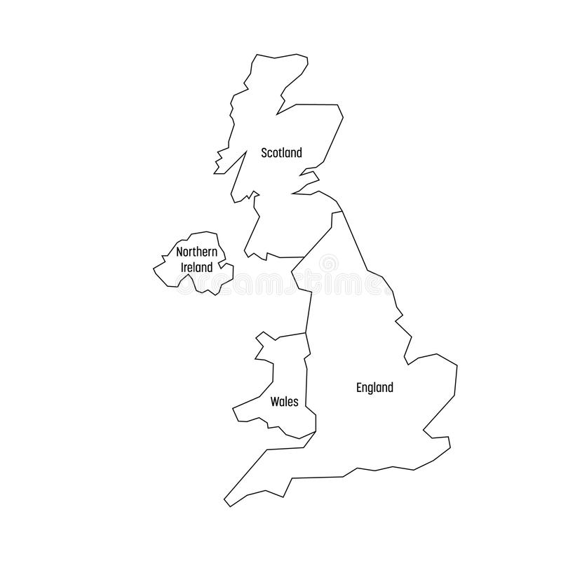 Map Of England Wales Scotland.Map Of United Kingdom Countries England Wales Scotland