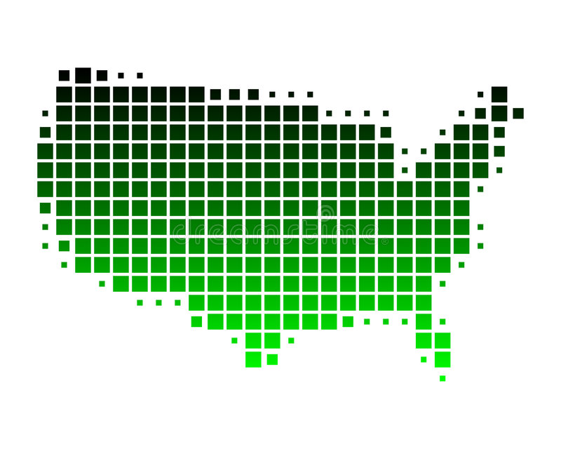Download Map Of United States Of America Stock Image - Image: 7195961