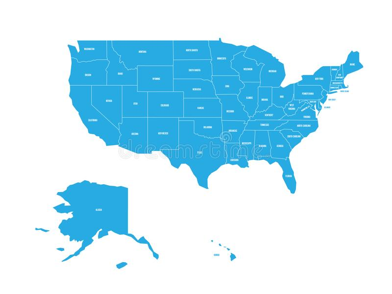Map of united states of america with state names simplified dark download map of united states of america with state names simplified dark grey silhouette vector gumiabroncs Images