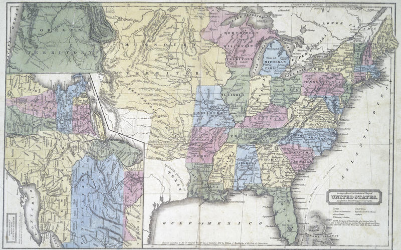 Maps Of US History States In Early S Map Of Us States In - Early us maps