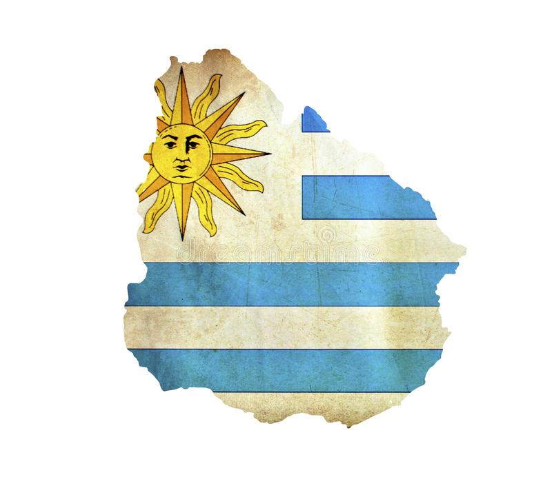 Map of Uruguay isolated royalty free stock images