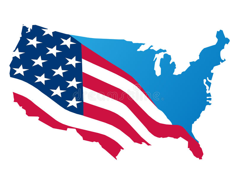 Map of the usa vector illustration
