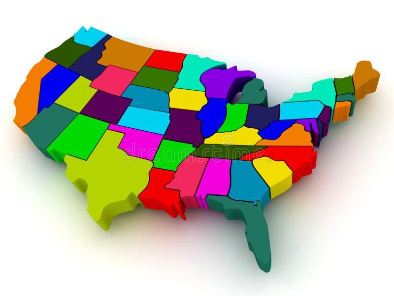 Map Of USA Royalty Free Stock Photos