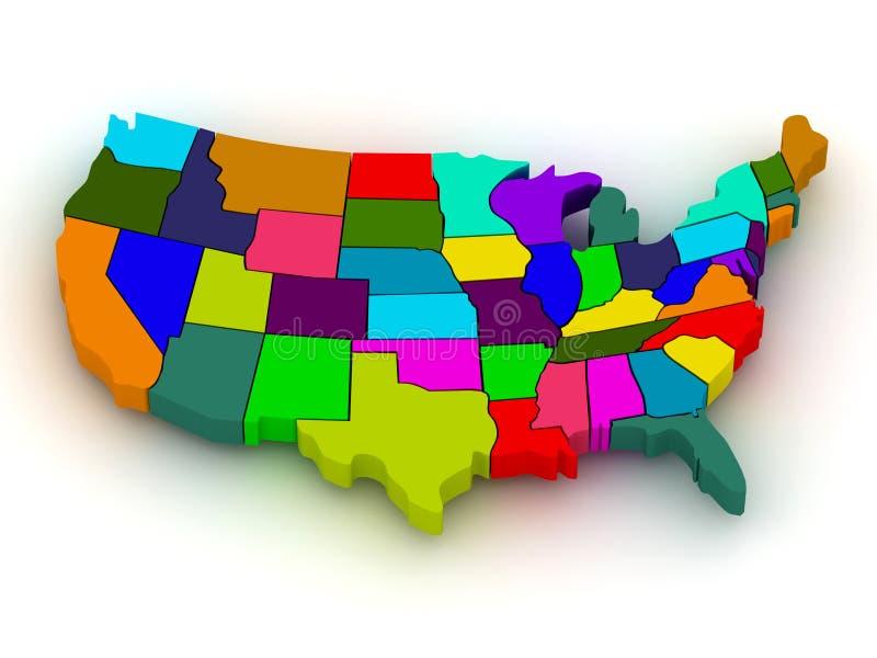 Download Map of USA stock illustration. Illustration of americas - 14006902