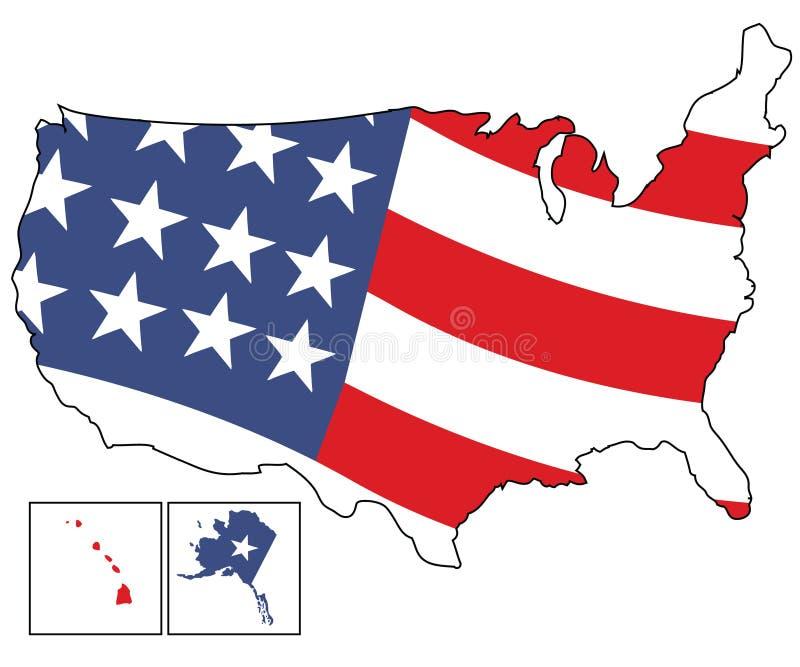 Map of USA stock illustration