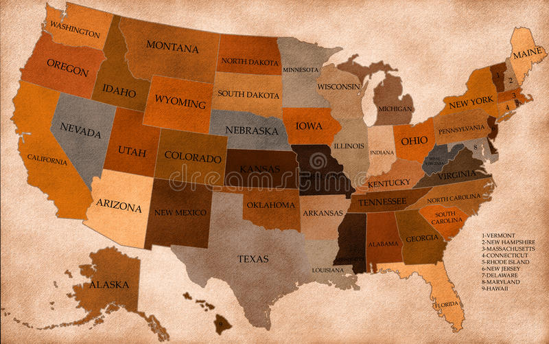 Download Map of USA stock illustration. Illustration of country - 22554299