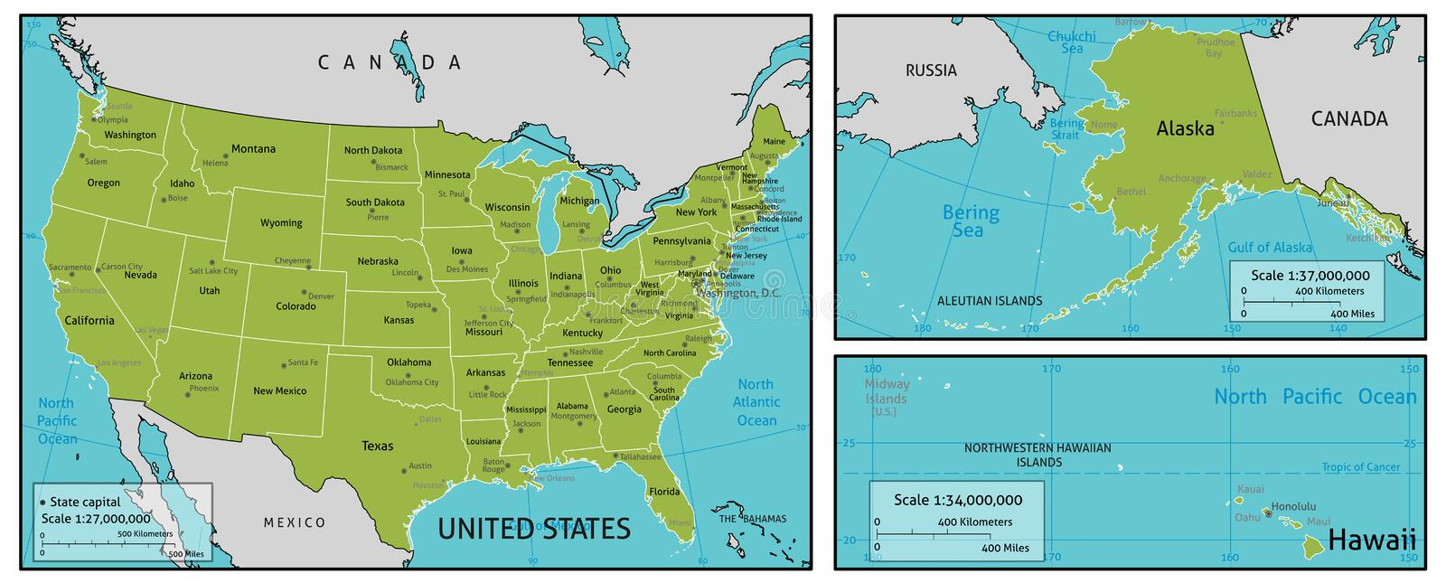Download Map Of Usa Stock Vector Image 55762477