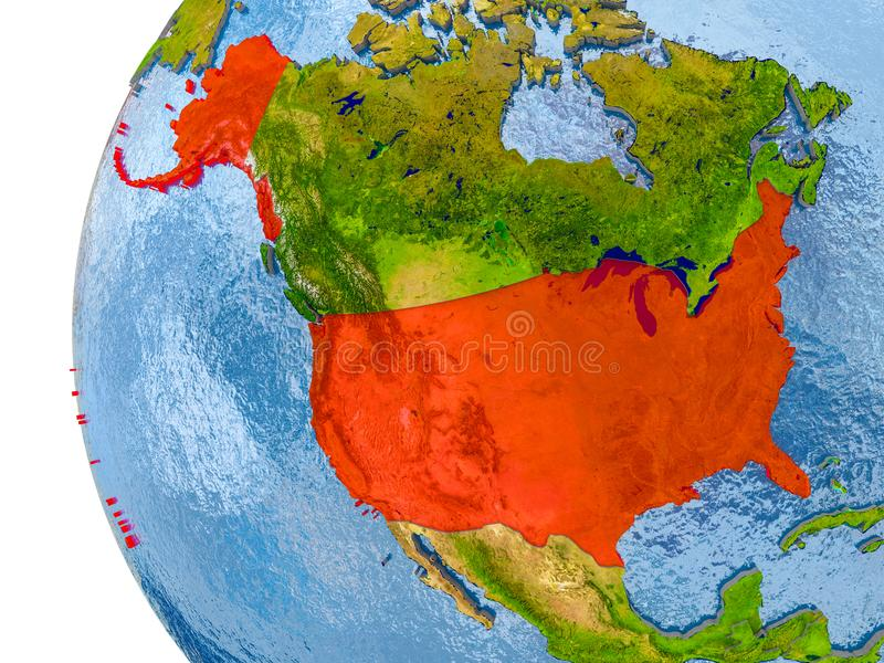 Map of usa on model of globe stock illustration illustration of download map of usa on model of globe stock illustration illustration of north object gumiabroncs Gallery