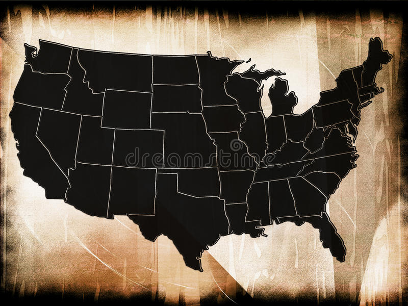 Download Map Of USA Royalty Free Stock Photo - Image: 36915505