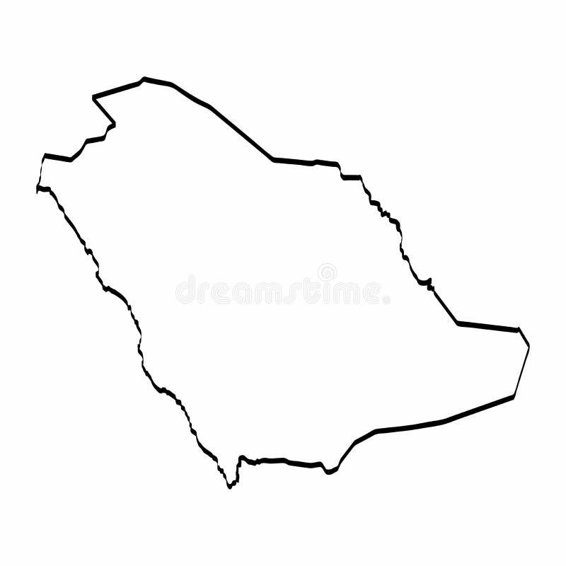 Map_V72_Saudi Arabi royalty-vrije illustratie