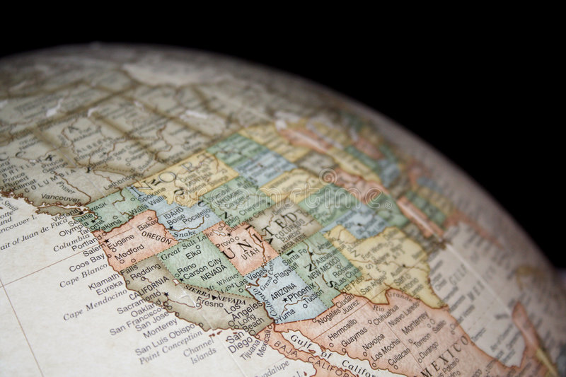 Download Map Of Western United States Stock Image - Image: 5421865