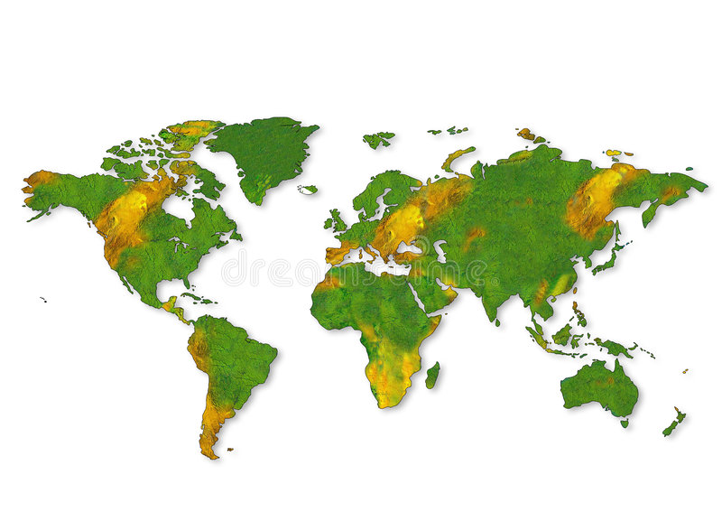 A map of the world stock photo