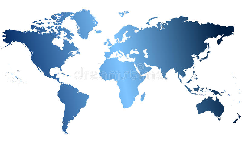 Map of the world royalty free illustration