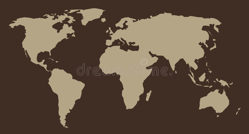 Map of World. Work with vectors vector illustration