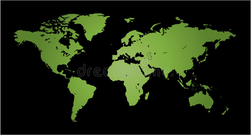 Map of World. Work with vectors royalty free illustration