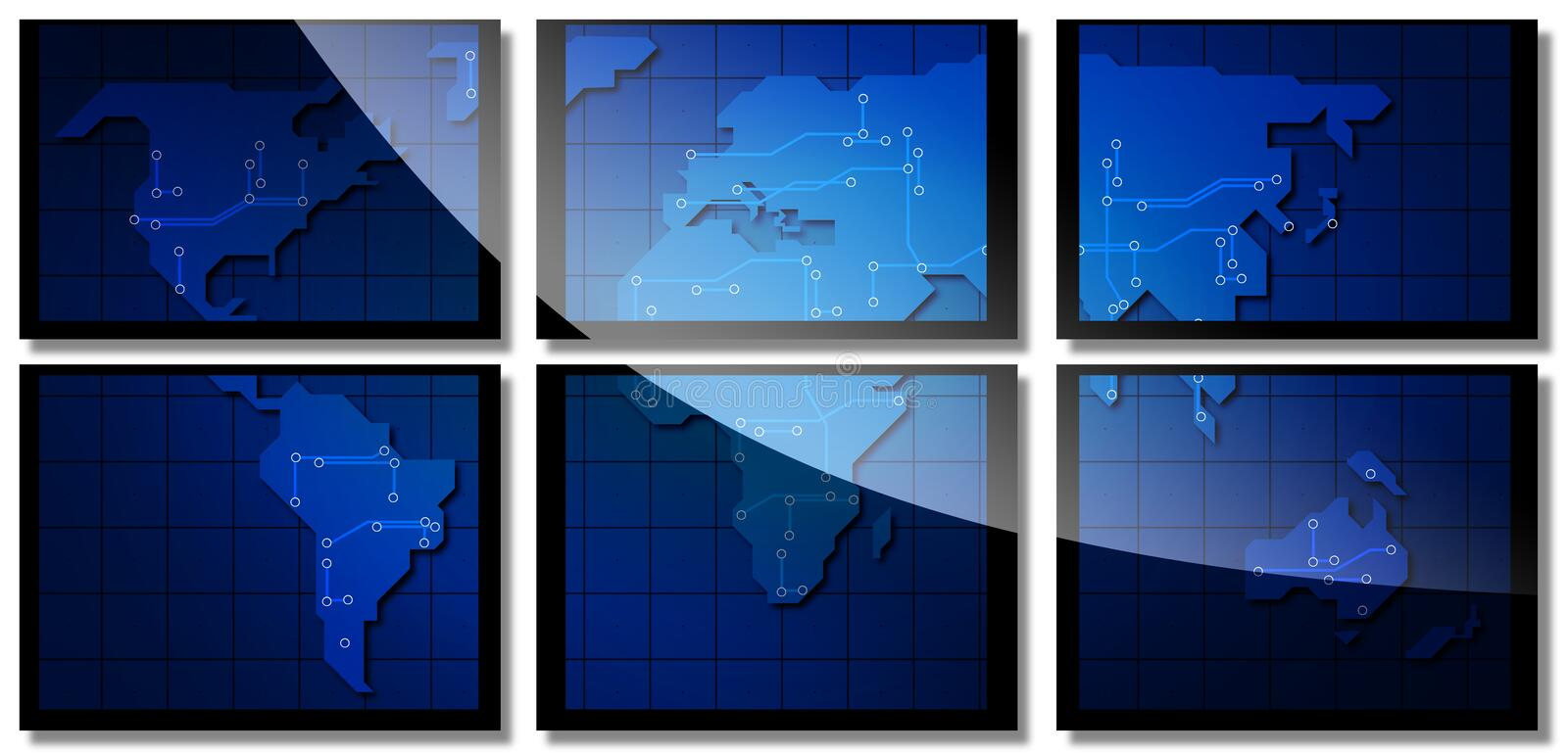 Download Map of the world stock image. Image of earth, television - 2319011