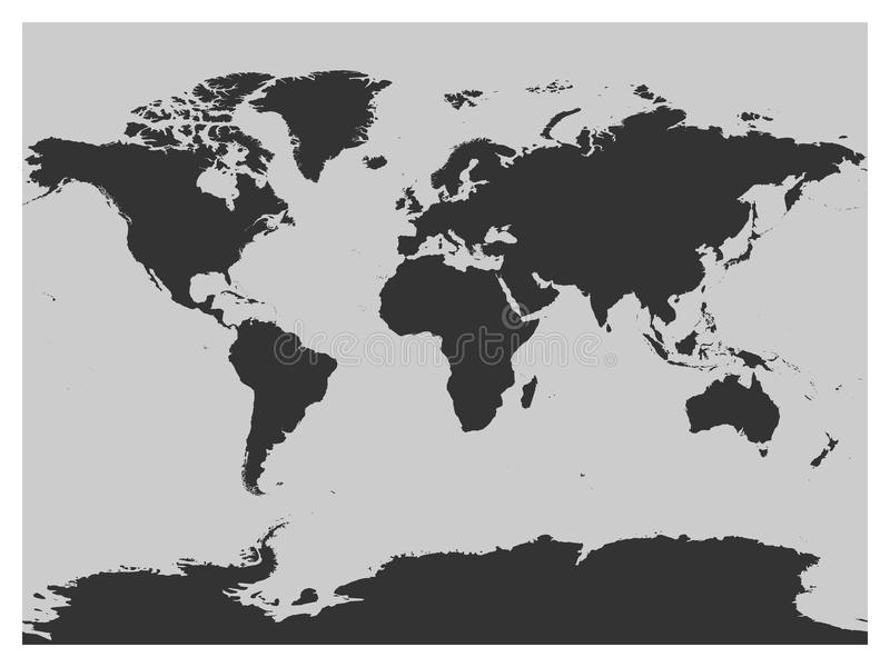 Map of world dark grey vector silhouette high detailed map on light download map of world dark grey vector silhouette high detailed map on light background stock gumiabroncs Image collections