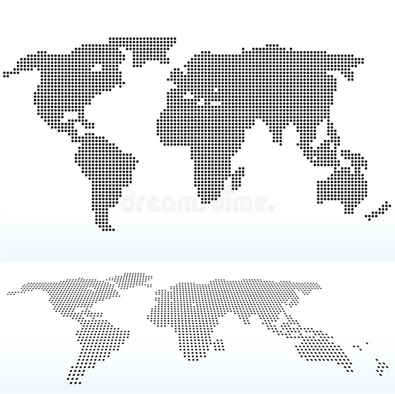 Map of world with with dot pattern stock vector illustration of download map of world with with dot pattern stock vector illustration of atlas nation gumiabroncs Images