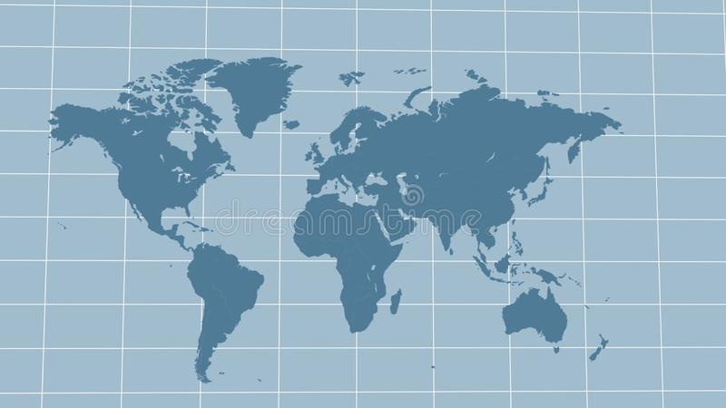 Map of the world fly around, corporate background for modern worldwide business. Stock photo royalty free illustration