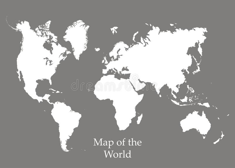 Map of the World on a grey background. Vector illustration vector illustration