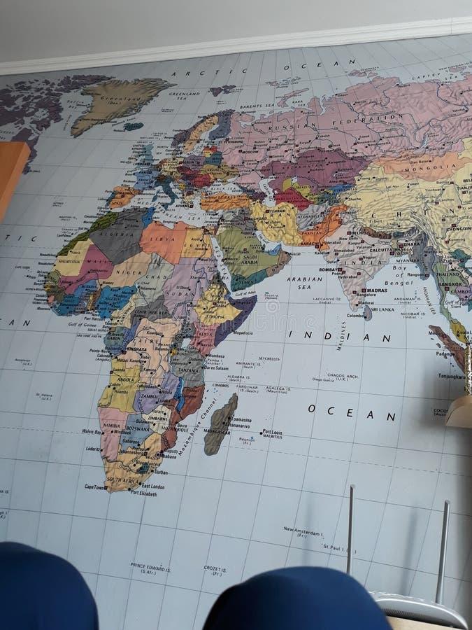 Map world, houston stock photography