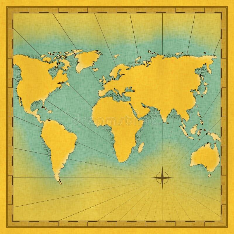 Map of the world illustration vector illustration
