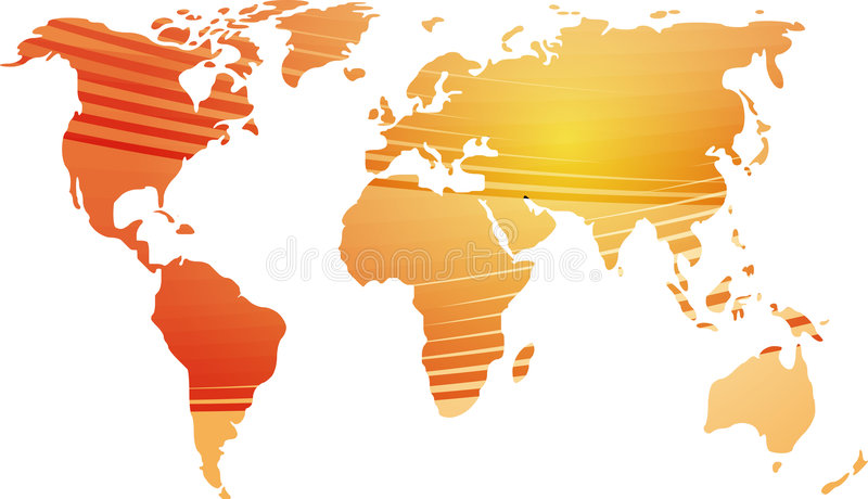 Map Of The World Illustration Stock Photography