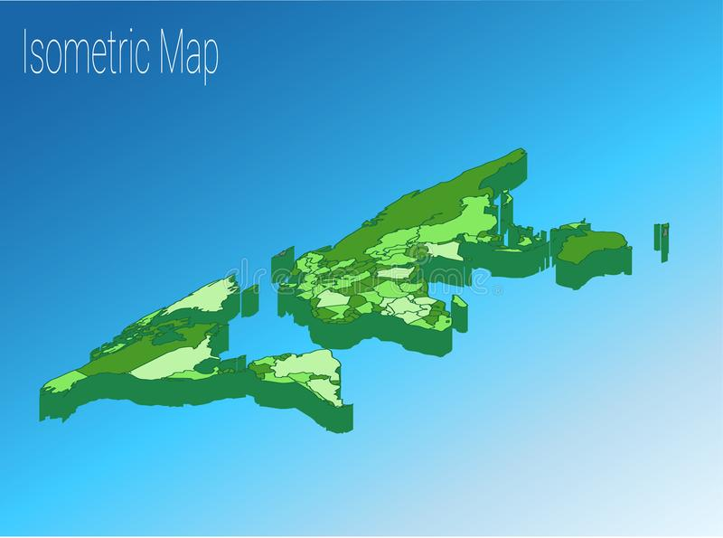 Map world isometric concept 3d flat illustration stock photo download map world isometric concept 3d flat illustration stock photo image of arrow gumiabroncs Gallery