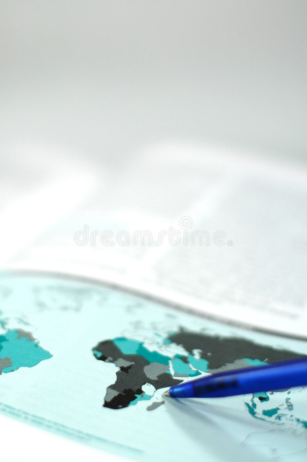 Download Map Of The World With Some Statistic Report Stock Photo - Image: 1719460