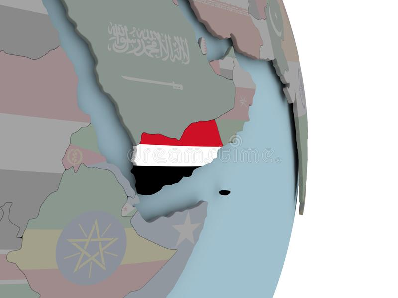 Cartina Yemen.Yemen Political Map Stock Vector Illustration Of Mandeb 103386216