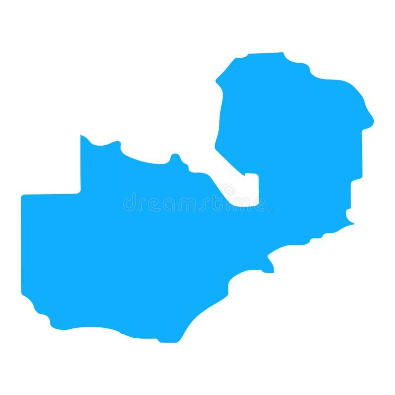 Map of Zambia stock illustration