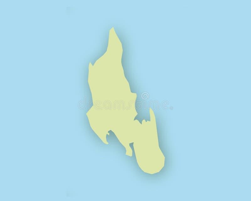 Map Of Zanzibar With Shadow Stock Vector Illustration of hard