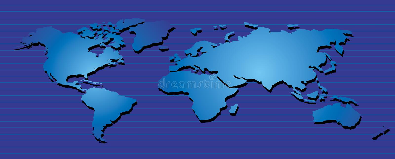 map06 κόσμος διανυσματική απεικόνιση