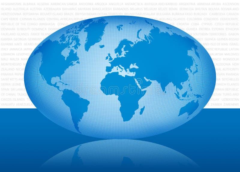 map1 świat fotografia stock